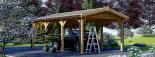 Cochera de madera CLASSIC, 3x6 m, 18 m² visualization 4