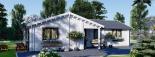 Casa de madera ADELE (44+44 mm), 68 m² visualization 5