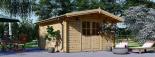 Caseta de madera para jardín PALMA (34 mm), 4x4 m, 16 m² visualization 1