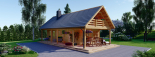 Casa de madera AURA (44+44 mm), 72 m² visualization 2