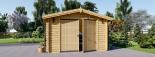 Garaje de madera 360x535 44 mm, 19.9 m² visualization 3