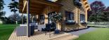 Casa de madera para vivir VERA (44+44 mm, aislada PLUS), 132 m² visualization 9
