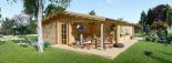 Casa de madera para vivir LINDA (44+44 mm, aislada PLUS), 78 m² visualization 4