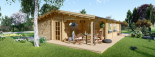 Casa de madera LINDA (44+44 mm), 78 m² + 38 m² porche visualization 4