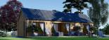 Casa de madera ADA (44 mm + revestimiento), 50 m² visualization 3