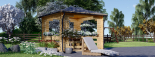 Cenador de madera 9 m² (3x3) 44 mm visualization 3