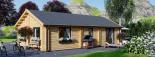 Casa de madera GRETA 44+44 mm, 54 m² visualization 6