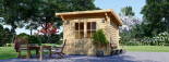 Caseta de jardín de madera MALTA (34 mm), 3x3 m, 9 m² visualization 2