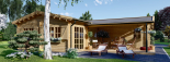 Casa de madera BERTA (66 mm), 72 m² + garaje 20 m² visualization 9