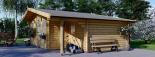 Cabaña de madera para jardín CLARA (66 mm), 28 m² visualization 2