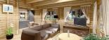 Casa de madera para vivir LINDA (44+44 mm, aislada), 78 m² visualization 9