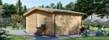Caseta de jardín DREUX 19.9 m² (5x4) 44 mm visualization 4