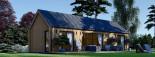 Casa de madera ADA (44 mm + revestimiento), 50 m² visualization 2