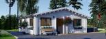 Casa de madera para vivir ALICE (44+44 mm, aislada PLUS), 72 m² visualization 8
