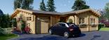 Casa de madera BERTA (66 mm), 72 m² + garaje 20 m² visualization 4