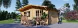 Cabaña de madera para jardín LILLE 25 m² (34 mm), 5x5 m, 25 m² visualization 3
