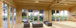 Casa de madera para jardín MARINA (44 mm), 48 m² visualization 9