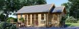 Cabaña de madera para jardín ELLA (44 mm), 28 m² visualization 1