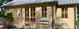 Cabaña de madera para jardín ELLA (66 mm), 28 m² visualization 8