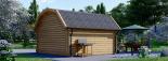 Caseta de madera ORLANDO (34 mm), 4x4 m, 16 m² visualization 5