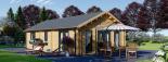 Casa de madera GRETA 44+44 mm, 54 m² visualization 5