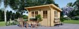 Caseta de jardín de madera DREUX con tejado plano (44 mm), 4x3 m, 12 m² visualization 6