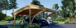 Cochera de madera double CORA DUO, 6x6 m, 36 m² visualization 2