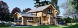 Casa de madera HOLLAND (66 mm), 105 m² visualization 2