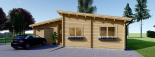 La casa BERTA de tejado plano 105 m² 66 mm visualization 3