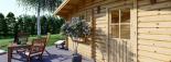 Cabaña de madera para jardín DREUX (44 mm), 5x5 m, 25 m² visualization 6