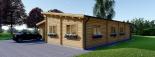 Casa de madera BERTA de tejado plano (44+44 mm), 72 m² + garaje 20 m² visualization 4