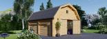 Garaje de madera MISSISSIPPI (44 mm), 5x6 m, 30 m² visualization 6
