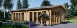 Casa de madera para jardín MARINA (44 mm), 48 m² visualization 1