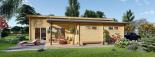 Casa de madera BERTA de tejado plano (44+44 mm), 72 m² + garaje 20 m² visualization 9