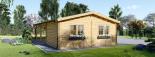 Garaje de madera 400x595 44 mm + Cochera Double 550x595, 57 m² visualization 8