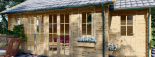 Cabaña de madera para jardín ELLA (44 mm), 28 m² visualization 8