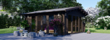 Caseta de madera MIA (44 mm), 5.5x5.5 m, 30 m² visualization 9