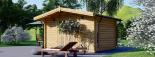 Caseta de jardín RENNES 12 m² (4x3) 34 mm visualization 5
