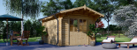 Caseta de jardín de madera PETER (34 mm), 3x4 m, 12 m² visualization 1