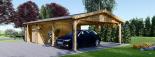 Garaje de madera 400x595 44 mm + Cochera Double 550x595, 57 m² visualization 5