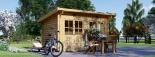 Caseta de jardin LILLE con tejado plano 12 m² (4x3) 34 mm visualization 5