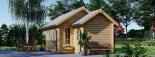 Cabaña de madera para jardín ELLA (44 mm), 28 m² visualization 3