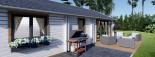 Casa de madera para vivir ANICA (44+44 mm, aislada PLUS), 71 m² visualization 9
