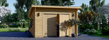Garaje de madera MODERN de techo plano (44 mm), 4x6 m, 24 m² visualization 3