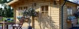 Caseta de jardín DREUX 20 m² (5x4) 66 mm visualization 7