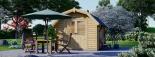 Caseta de jardín ORLANDO 9 m² (3x3) 34 mm visualization 2