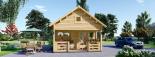 Casa de jardín ALBI (44 mm), 20 m² + porche visualization 3