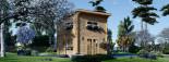Casa de jardín AVIGNON de tejado plano (44 mm), 20 m² de dos plantas visualization 3