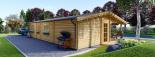 Casa de madera para vivir LINDA (44+44 mm, aislada PLUS), 78 m² visualization 5
