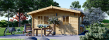 Caseta de jardín DREUX 19.9 m² (5x4) 44 mm visualization 6
